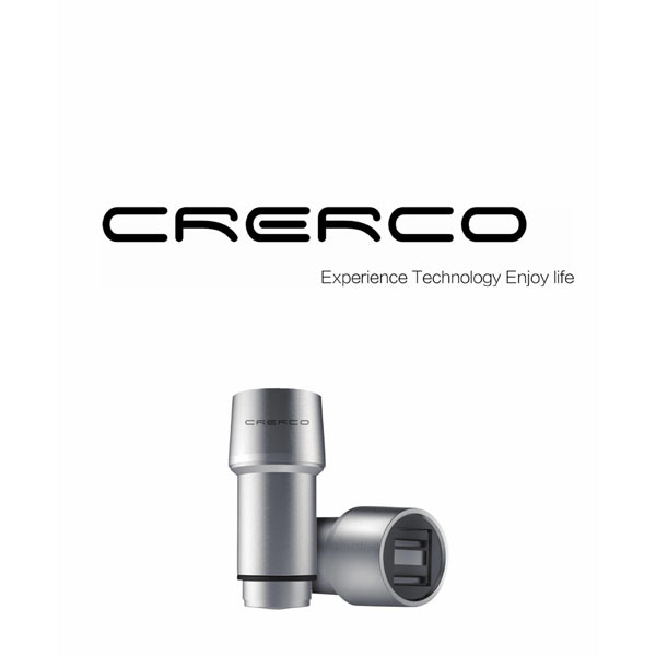 CRERCO Thor T1 Alloy Stainless Steel 4.8A Dual USB Car Charger iPhone 5 5S 5C