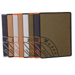 Canvas Mönster Skydd PU Läder Ställ Fodral Skydd för iPad Mini 2 iPad Tillbehör