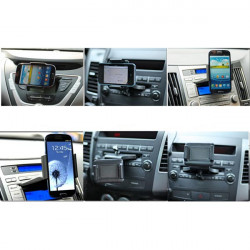 Bil CD Dash Slot Mount Holder Dock til iPod iPhone Smartphone
