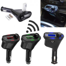 Bil Kit Bluetooth Handsfree-Fm-Sändare Mp3-Spelare USB-Laddare