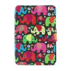 Cartoon Elephant PU 360 Degree Rotating Leather Case For iPad Mini