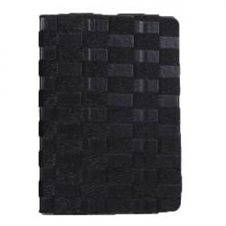 Checkerboard Ådringsmönster PU Läder Ställ Fodral för iPad Air