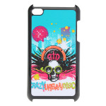 Colorful Cool Frosted Skeleton Head Design Case For iPod Touch 4 4G iPod accessories
