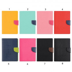Contrast Color PU Leather Stand Case With Card Holder For iPad Mini