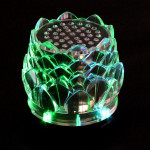 Crystal Lotus Tower Card Speaker Player For iPhone Smartphone
