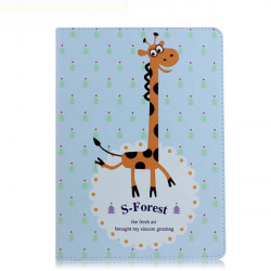 Gullig Giraffmönster Flip PU Läderfodral Skydd för iPad Luft / 5