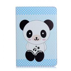 Gullig Panda Pattern Flip Ställ PU Läderfodral till iPad Mini 2