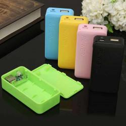 Diy 2 * 18650 5200 / 6800mah Powerbank Batteriladdare Box