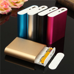 DIY 4*18650 Battery Power Bank Charger Box For iPhone Smartphone