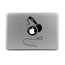 DJ Kopfhörer Vinyl Aufkleber Aufkleber Haut für MacBook Air / Pro