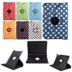 Dot 360° Roterande PU Läder Flip Ställ Smart Fodral för iPad Mini 1 2 3 iPad Tillbehör