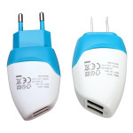 Dual USB Ports US EU Plug Charger Adapter For iPhone Smartphone iPhone 5 5S 5C
