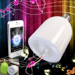 E27 LED-lampa Bluetooth 3.0 Musik Audio högtalare för iPhone tabletter
