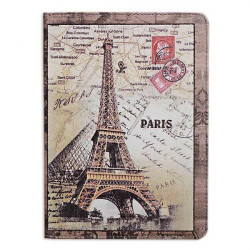 Eiffel Tower Grain Pattern PU Leather Case Cover For iPad Air