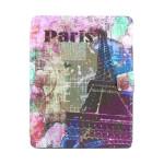 Eiffeltornet Mönster 360° Roterande Läderfodral till iPad 2 3 4 iPad Tillbehör