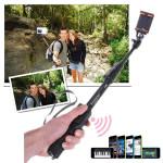 Utdrag Bluetooth Button Aluminiumlegering Sport Selfie Monopod Stick iPhone 6