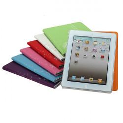 Mode Maskros Folio PU Läderfodral Med Ställ för iPad 3 2