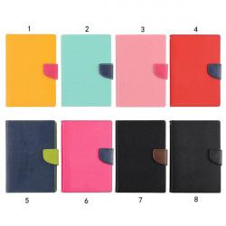 Mode Slim Kontrast Färg PU Läder Ställ Fodral för iPad 2 3 4