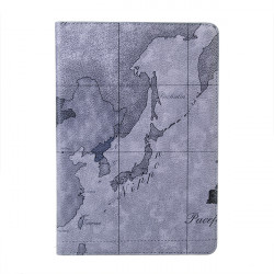 Fashion World Map PU Leather Stand Case Cover Skin For iPad Mini