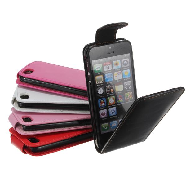 Faux PU Læder Flip Pouch Case Pocket til iPod Touch 5 5. 5G iPod Tilbehør