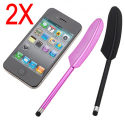 Feather Capacitive Stylus Touch Screen Pen for iPad 2 iPhone 4G 3G S iPod Touch Tablet