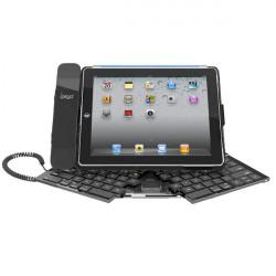 Vikbar Trådlöst Bluetooth-tangentbord Hållare Fodral Skydd för iPad 2 3