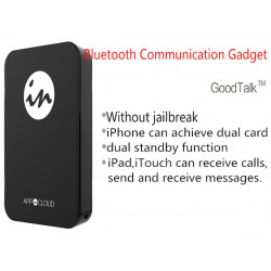 GoodTalk Double Kort Bluetooth-kommunikation Prylar för iPhone iPad