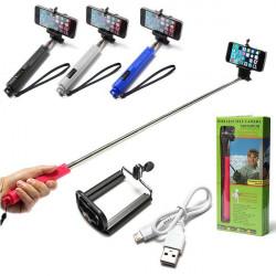 Hand Bluetooth Selfie Stick Monopod Utdrag för iPhone
