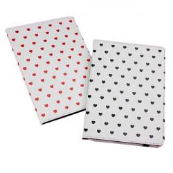 Hjärtformade Grain Ställ Fodral Skydd för iPad Air