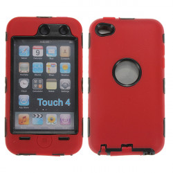 Starkes Hochleistungsschlag Hybrid Hülle für iPod touch 4