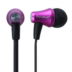 Horn Mønster Grain In Ear Headphone Høretelefon Cover til iPhone