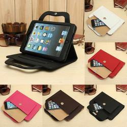 Intelligente Schlaf Handtasche PU Leder Kasten Standplatz für iPad Mini