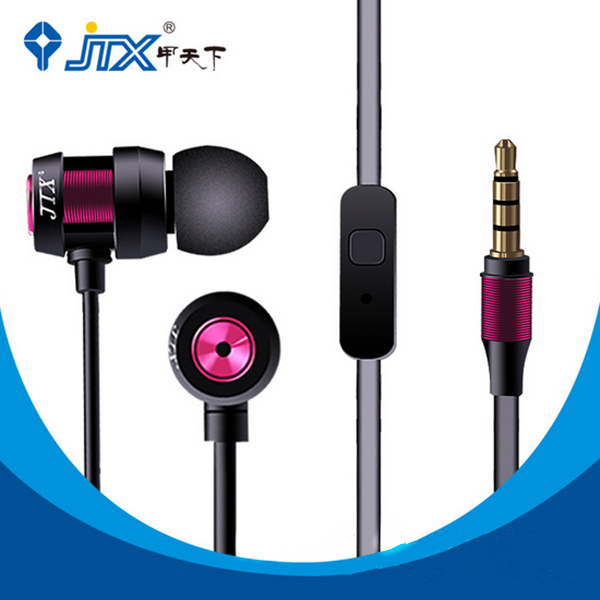 JTX JL580 Super Bass With Mic Headset Handfree Earphone For iPhone