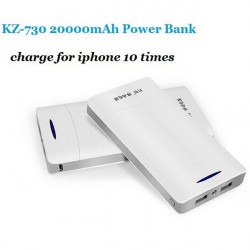 KZ-730 20000mAh Emergency Portable Mobile PowerBank för iPhone