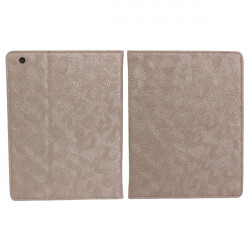 Light Brown Classical Decorative Pattern Leather Case For iPad 2 3 4