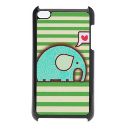 Dejlig Cute Cartoon Elephant Mønster Bagside Case til iPod Touch 4 4G