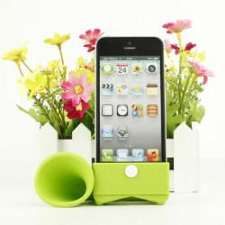Dejlig Design Horn Shape Silicon Højttaler Til iPhone 4 4S