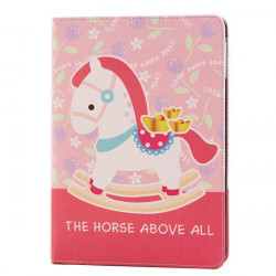 Lovely Horse Pattern Protector Stand PU Leather Case For iPad Air