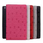 Lovely Rabbit Ådringsmönster Läderfodral Skydd för iPad 2 3 4 iPad Tillbehör