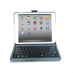 Lyx Bluetooth Trådlös Tangentbord Fodral Med Snap Gemensamma för iPad Mini
