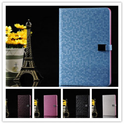 Lyx Diamond Grain Style Färgglada PU Läderfodral till iPad Mini
