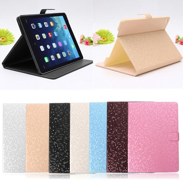 Lyx Magnetisk PU Läder Folio Smart Ställ Fodral iPad Air 2 iPad Tillbehör