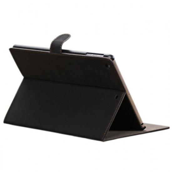 Lyx Ren Färg PU Ställ Skyddande Fodral Skydd för iPad Air 2021