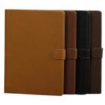 Lyx Ren Färg PU Ställ Skyddande Fodral Skydd för iPad Air iPad Tillbehör