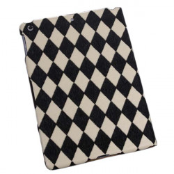 Luxury Rhombus Grain Pattern Stand Case Cover For iPad Air