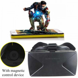 Magnetische Virtual Reality 3D Videobrille für iPhone Smartphone