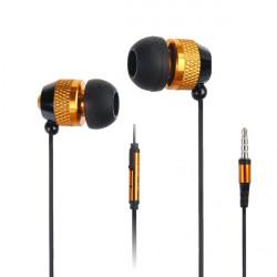 Metal öronsnäcka hörlurar Earbuds med Mic för iPhone Smartphone-enhet