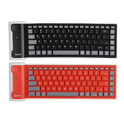 Mini Bluetooth Fleksibel Folding Silikon Waterproof Tastatur til IOS
