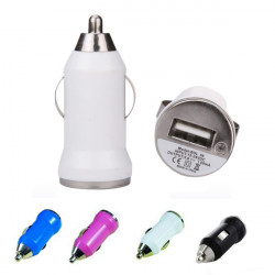 Mini Bil USB Cigarette Lighter Chargers Adapter For iPhone Samsung