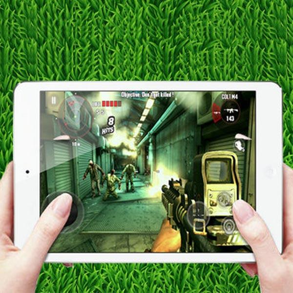 Mini Round Fling Plast Joystick Game Controller för iPad Tablet iPhone 5 5S 5C